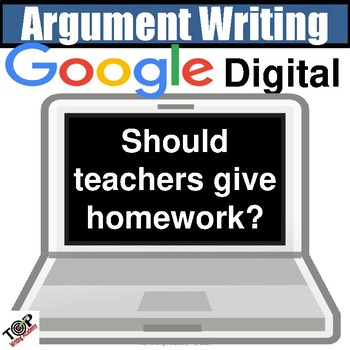 """Distance Learning Argument Writing Unit """"The Value of Homework"""" Google Classroom"""