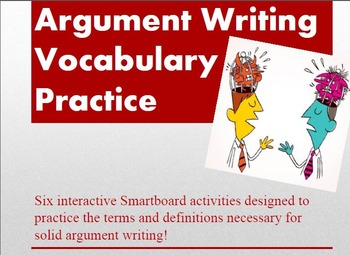 Argument Writing Vocabulary Smartboard Practice