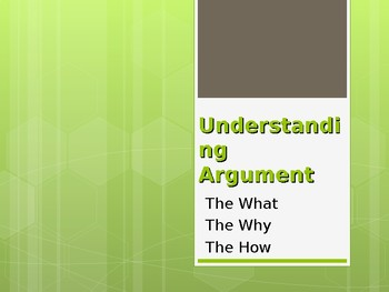 Argument and Persuasion - Comprehensive Presentation - CCSS Aligned