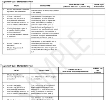 Argument and Persuasion PARCC-based Assessment
