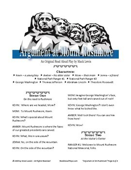 Argument at Mount Rushmore U.S. History Reader's Theater