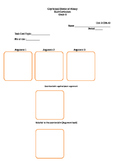 Argument task cards and organizer