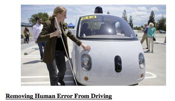 ArgumentArticle- Self-Driving Cars, Scav Hunt, Vocab, Pro/