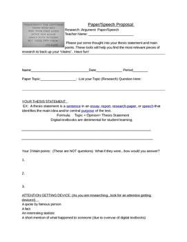 Argumentation Essay- Proposal