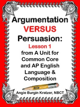 Argumentation VERSUS Persuasion: An Introductory Lesson