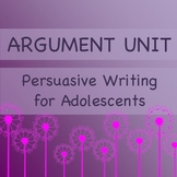 Argumentation Writing Unit: Common Core: Online Collaborative Discussion