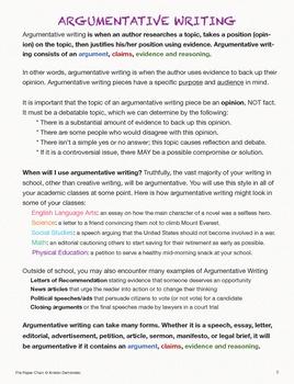 Argumentation Writing Unit: Common Core: Online Collaborative Discussion