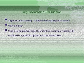Argumentation and Persuasion