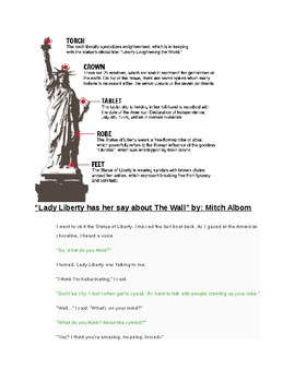 Argumentative Analysis: Mitch Albom's Conversation with the Statue of Liberty