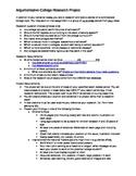 Argumentative College Research Project