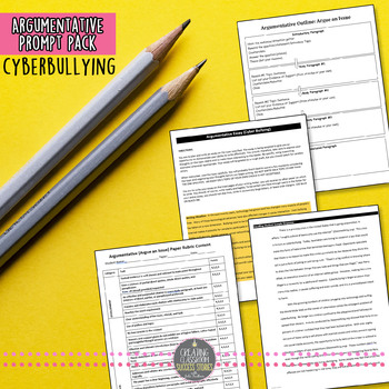 Writing Prompt Pack, Argumentative Essay on Cyberbullying