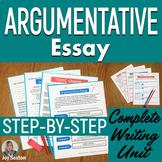 Argumentative Essay - Argumentative Writing Unit Common Core Aligned 6 - 9
