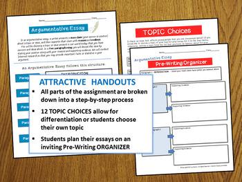 Argumentative Writing Middle School - Argumentative Essay CCSS-Aligned