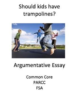 Argumentative Essay 4-day scaffolded plan (Trampolines)