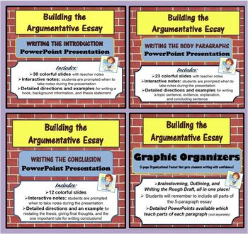 The Argumentative Essay BUNDLE
