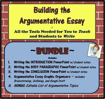 The Argumentative Essay BUNDLE