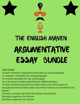 Argumentative Essay Bundle (6-12th grades)