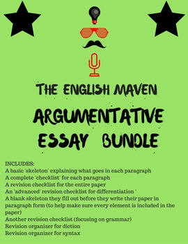 Argumentative Essay Bundle (6-12th grades)