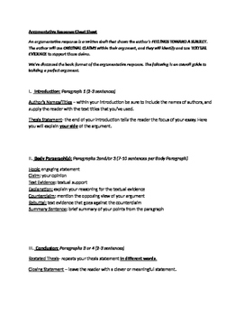 argumentative essay cheat sheet by middle school writing warriors inc argumentative essay cheat sheet