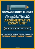 Argumentative Essay (Common Core Aligned) Complete Process Bundle