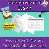 Argumentative Essay Complete Common Core Lesson Plan