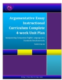 Argumentative Essay Complete Instruction Curriculum Unit Plan
