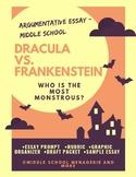 Argumentative Essay: Dracula vs. Frankenstein (Comprehensi