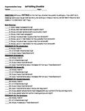 Argumentative Essay Editing Checklists