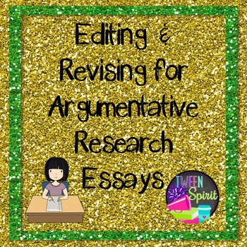 Argumentative Essay Editing and Revising Checklist