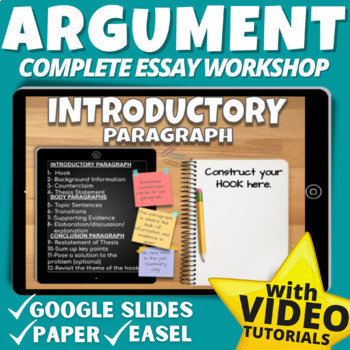 ARGUMENT Writing Middle School Google Classroom: THESIS STATEMENT CENTERED