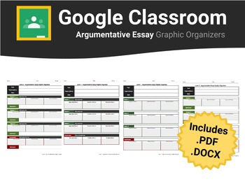 Argumentative Essay Graphic Organizers For Google Classroom