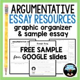 Argumentative Essay Graphic Organizer Free for Distance Le