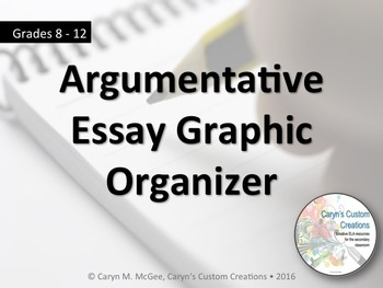 Argumentative Essay Graphic Organizer and Rubric