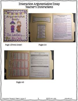 Argumentative Essay ~ Interactive Research Papers Lesson 5 ~ Common Core Writing