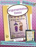 Argumentative Writing: Argumentative Essay Lapbook Project