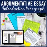 Argumentative Essay Intro Paragraph Lesson Practice Quiz  