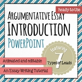 Argumentative Essay Introduction featuring the ABCs of Lead-Writing