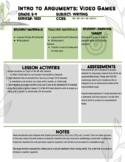 Argumentative Essay - Lesson Plan and Graphic Organizer Volume 2