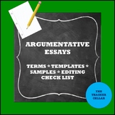 Argumentative Essay Materials - Terms, Template, and Samples