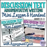 Discussion Text Mini Lesson and Matching Study Guide Hando