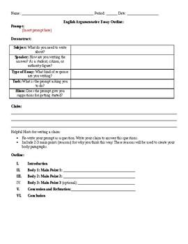 help on writing an argumentative essay