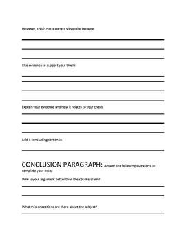 Argumentative Essay Outline - Part 2 NYS ELA CC Regents Exam Prep
