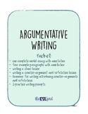 Argumentative Essay Packet!