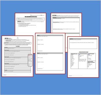 The Argumentative Essay Graphic Organizers