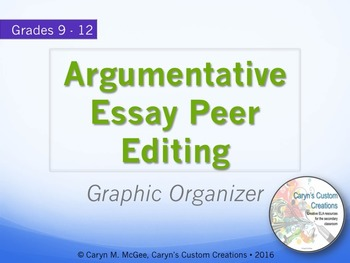 Argumentative Essay Peer Editing Graphic Organizer