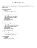 Argumentative Essay Peer Review Checklist