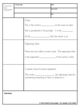 Argument Writing Pixanotes® (Picture Notes) + Dominoes Game!