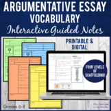 Argumentative Essay Writing Guided Notes + 2 Dominoes Games!