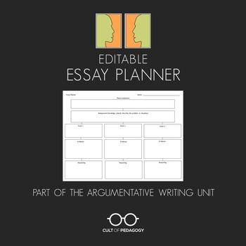 Argumentative Essay Planner -- Editable