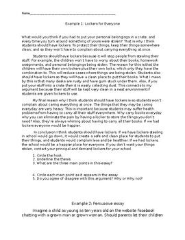 Argumentative Essay Practice